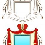 Ornamental Royal Shield — Stock Vector
