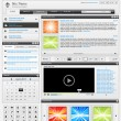 Web design elements set 1. Black and white - Stock vektor
