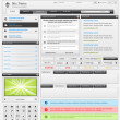 Web design elements set 3. Black and white - 
