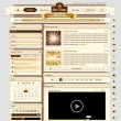 Web design set retro 1 - Stockvectorbeeld