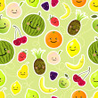 Fruits seamless pattern — Stok Vektör