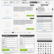 Royalty-Free Stock Vector Image: Web design elements set. Online shop 2. Vector illustration