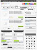 Conjunto de elementos de diseño web. tienda online 2. ilustración vectorial — Vector de stock