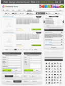 Web デザインの要素を設定します。2 のオンライン ショップ。ベクトル イラスト — ストックベクタ