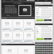 Web design elements set. Online shop 1 - Stock Vector