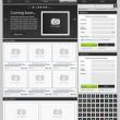 Web design elements set. Online shop 1 — Stock Vector