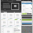 Web design elements set. Online shop 2 - Stock Vector