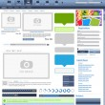 elementos de diseño web azul 2 — Vector de stock