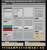 Web 设计元素灰色 — 图库矢量图片