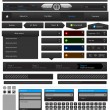 Web design elements set black - Stock Vector