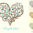 Greeting card with heart — Vector de stock #6540606