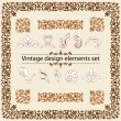 Vintage design elements set - Stock Vector