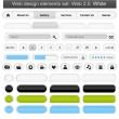 Web design elements set white - Stock Vector