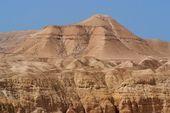 Scenic mountain in stone desert near the Dead Sea — Stock Photo