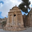 Fisheye view of the Tomb of Absalom in Jerusalem — Stock Photo