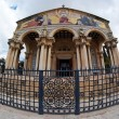 Fisheye view of Church of All Nations in Jerusalem — Stock Photo