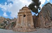 Vista fisheye della tomba di assalonne a gerusalemme — Foto Stock