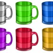 Six cups — Stock Vector #5722988