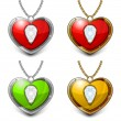 Stock Vector: Heart shaped necklace