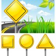 Vector de stock : Road signs