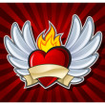 Fiery heart — Stock Vector #5723131