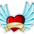 Heart with wings — Stock Vector #5723147