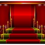 Red pedestal — Stock Vector