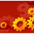 Gears in red — Stock Vector