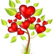 Tree of hearts — Imagen vectorial