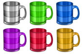 Six cups — Stock Vector