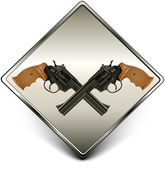 Guns sign — Vettoriale Stock