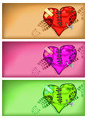 Broken heart background — Stock Vector