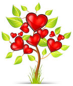 Tree of hearts — Vector de stock