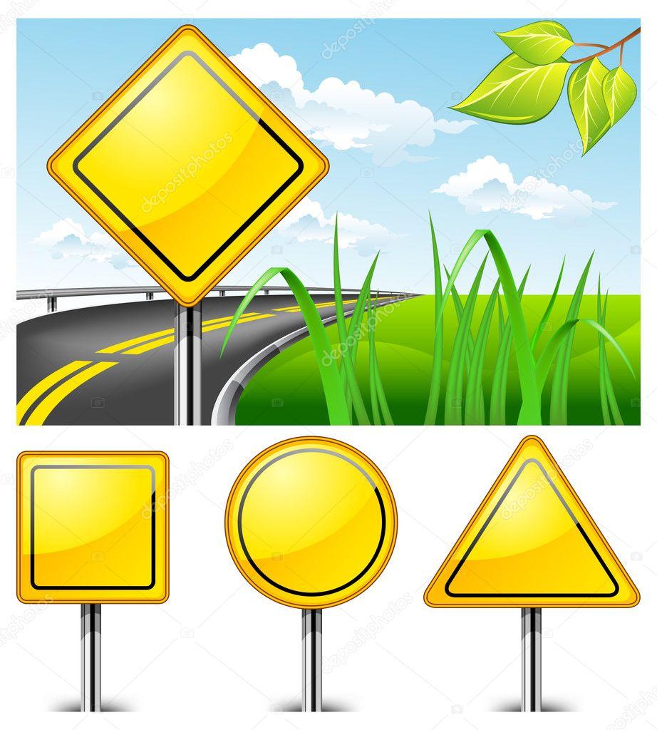 道路标志 — 图库矢量图像08