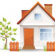 Small house - Stock Vector