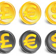 Money icons - Imagen vectorial