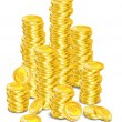 Stock Vector: Golden coins