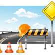 Vector de stock : Road construction