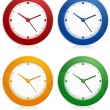 Color wall clocks — Stockvektor