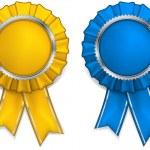 Award rosettes — Stock Vector