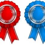 Award arms and ribbons — Stock Vector