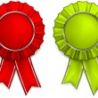 Award rosettes - Stock Vector