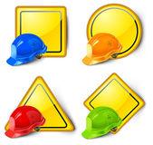 Road signs & helmets — Stock Vector