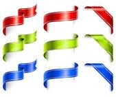 Holiday ribbons — Stock Vector
