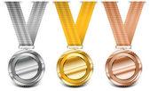 Colección de medalla — Vector de stock