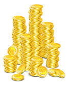 Golden coins — Stock Vector