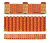 Wooden fences — Stock Vector