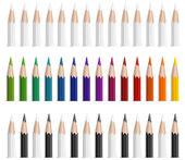 彩色铅笔 — 图库矢量图片