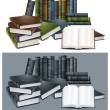 Library books — Stock Vector