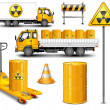Transport with radioactive waste — Vector de stock